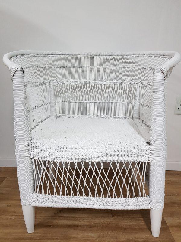 White Malawi Chair Indigobay Interiors